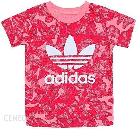 aaef4fe43235d Amazon Adidas Dzieci i eqt Tee Koszulka AOP, różowy