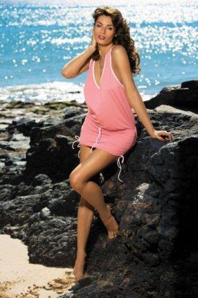 7c9a1b043c0713 Marko Sukienka plażowa Elsa Frosted M-313 Koralowa (285)