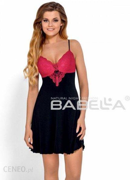 6f8b96fe52c564 Koszula nocna Babella Donatella Czarno-czerwona (usztywniane miseczki) -  zdjęcie 1