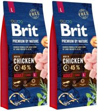 Brit Premium By Nature Adult Large 2x15kg