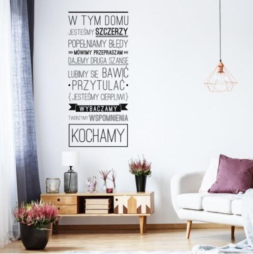 Yokodesign Naklejka Na ścianę Napis W Tym Domu Opinie I Atrakcyjne Ceny Na Ceneopl