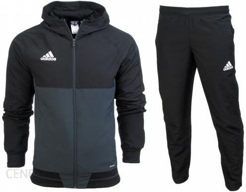 Dres kompletny Adidas junior spodnie kurtka Tiro 17 AY2857 AY2862