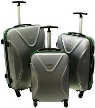 ebceb8220a9b0 Duża walizka KEMER 750 L Srebrno Zielona - srebrny / zielony