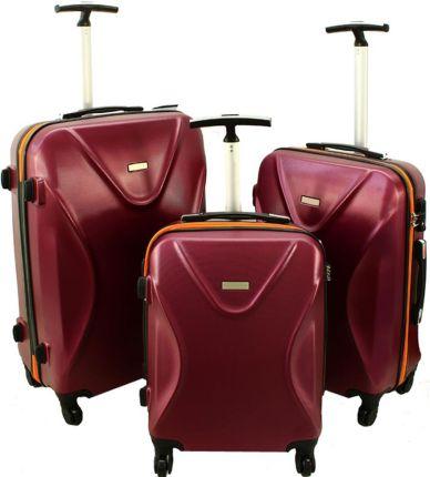 65df5746f998d Zestaw walizek na kółkach PUCCINI ABS ABS02 ABC czarny 33,5 l, 70 l ...