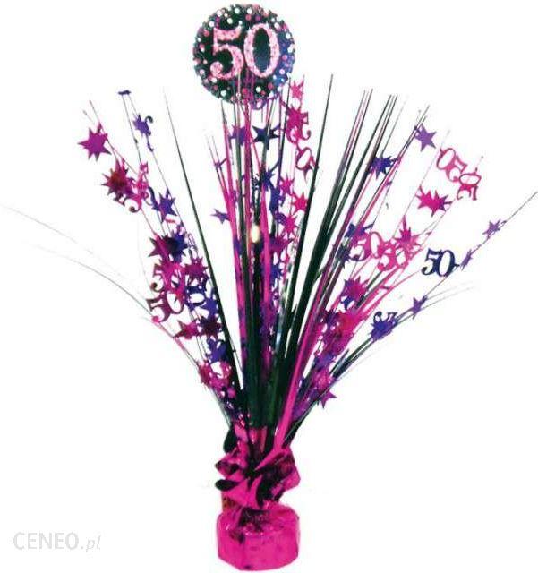 Niesamowite Amscan Obciążnik Do Balonów Bukiet 50 Urodziny Różowo-Czarny 250 G OX69