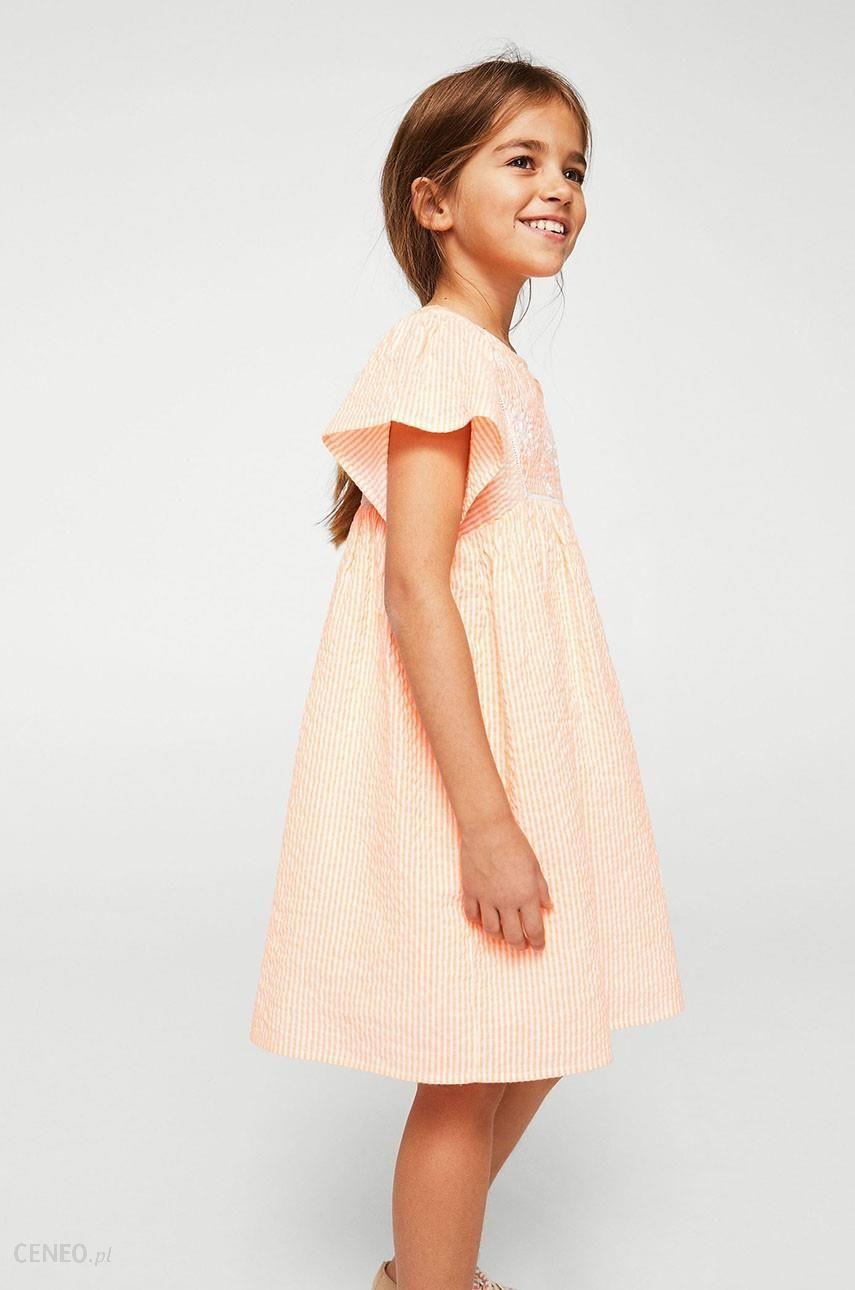 3af993c5fe Mango Kids - Sukienka dziecięca Flour 110-152 cm - Ceny i opinie ...