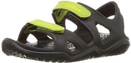 Amazon Crocs dla dzieci sandały Swift Water River K 204988 - czarny - 29 30 19c89939a2