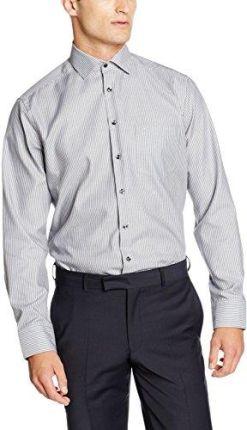 8a464f3caff7c Amazon Naklejka na jedwabiu męska koszula rekreacyjna Business Kent Piping  - krój regularny 40 cm (