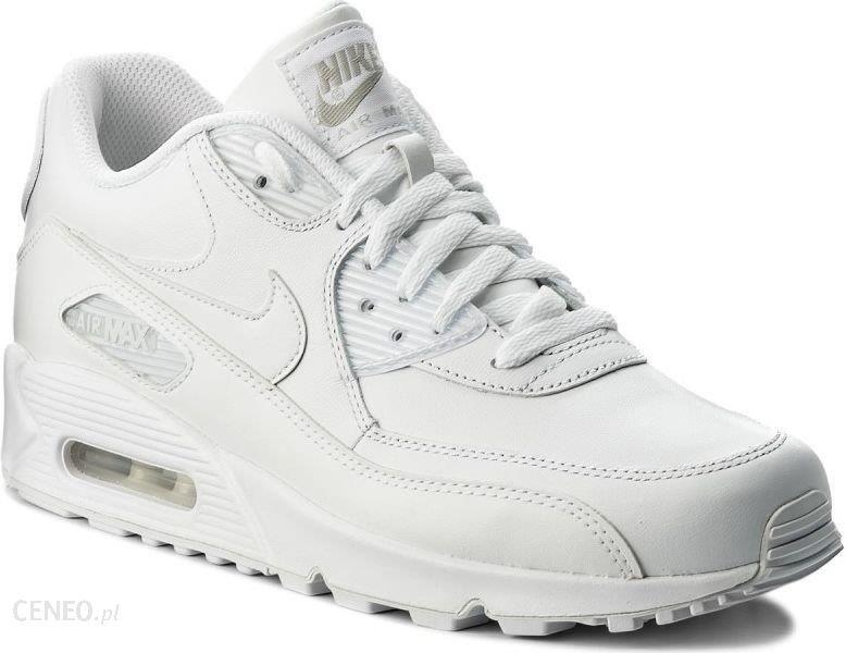 6e6b93e271a1 Nike Buty męskie Air Max 90 Leather białe r. 44 (302519-113) - Ceny ...