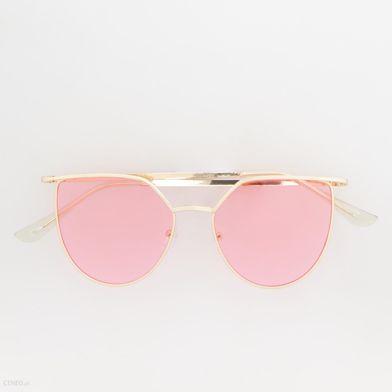 Reserved Różowe okulary przeciwsłoneczne Różowy Ceny i opinie Ceneo.pl
