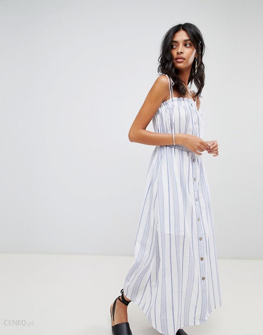 53f9785dfcc Moon River button front stripe midaxi dress - Blue - zdjęcie 1