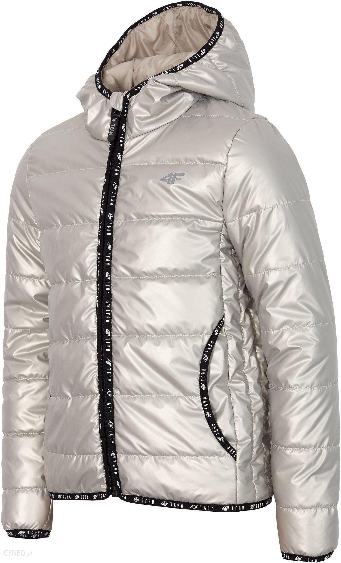 4f kurtka przeciwdeszczowa srebrna