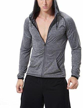 91fa1d77e Amazon sevenwell męskie Zipper Hoodies męski Premium lekka Zip Up bluza z  kapturem - l ciemnoszary
