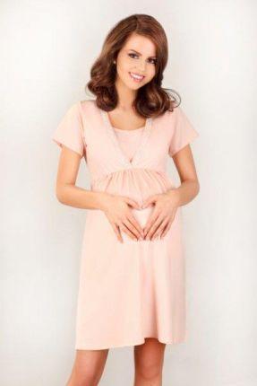 f87b365a Koszula nocna dla kobiet w ciąży i karmiących Lupoline ecru 3021 ...