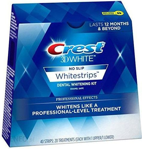 Crest 3d Professional Effects Whitestrips 40 Szt Dental Whitening Treatment White Opinie I Ceny Na Ceneo Pl