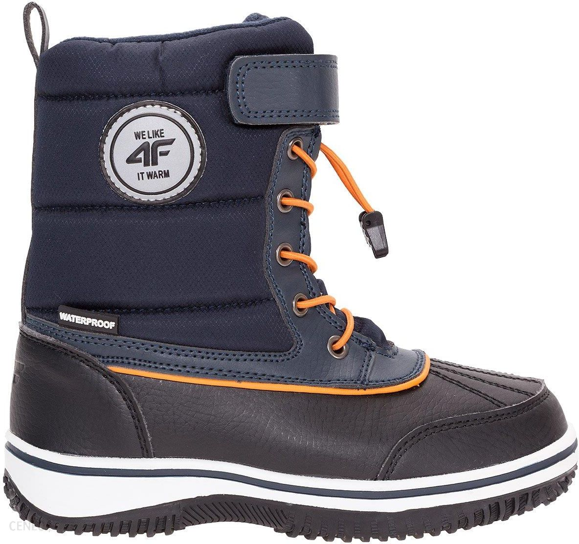 06b50e80 Buty zimowe dla dużych chłopców JOBMW404Z - granatowy 4F JUNIOR - zdjęcie 1