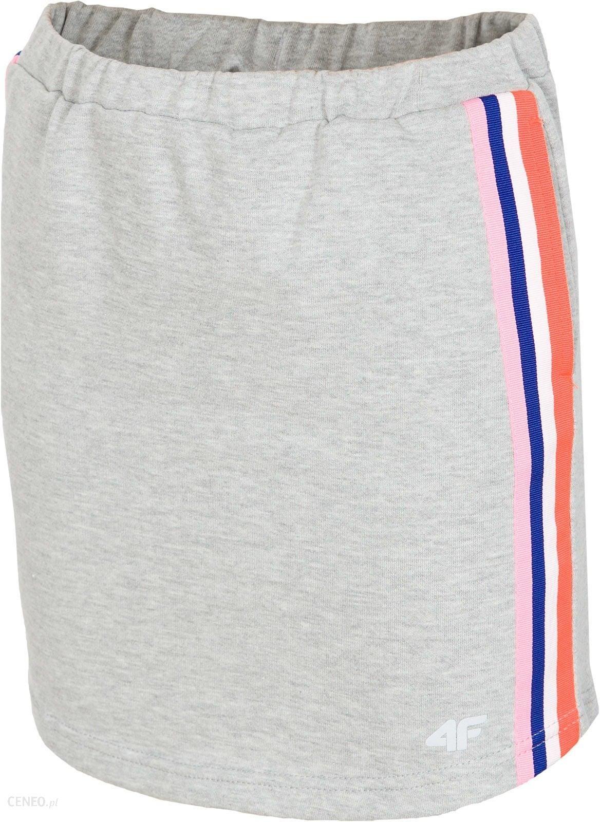 58a0690c32 Spódniczka dresowa dla dużych dziewcząt JSPUD203 - szary melanż - zdjęcie 1