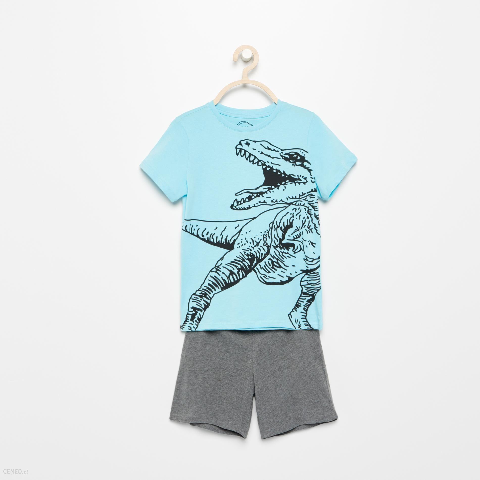 942160ba561ff3 Reserved - Piżama z dinozaurem z szortami - Niebieski - Ceny i ...