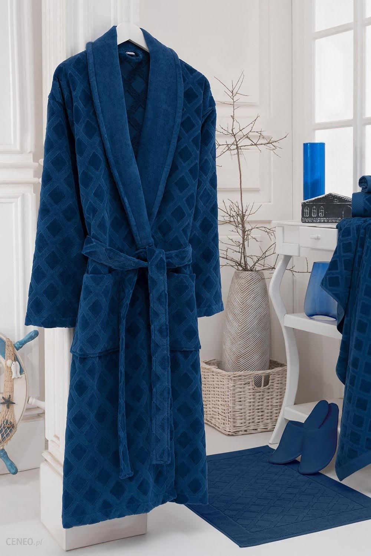 592b36d7c3fcde Bahar Szlafrok uniseks Charles niebieski niebieska XL - Ceny i ...