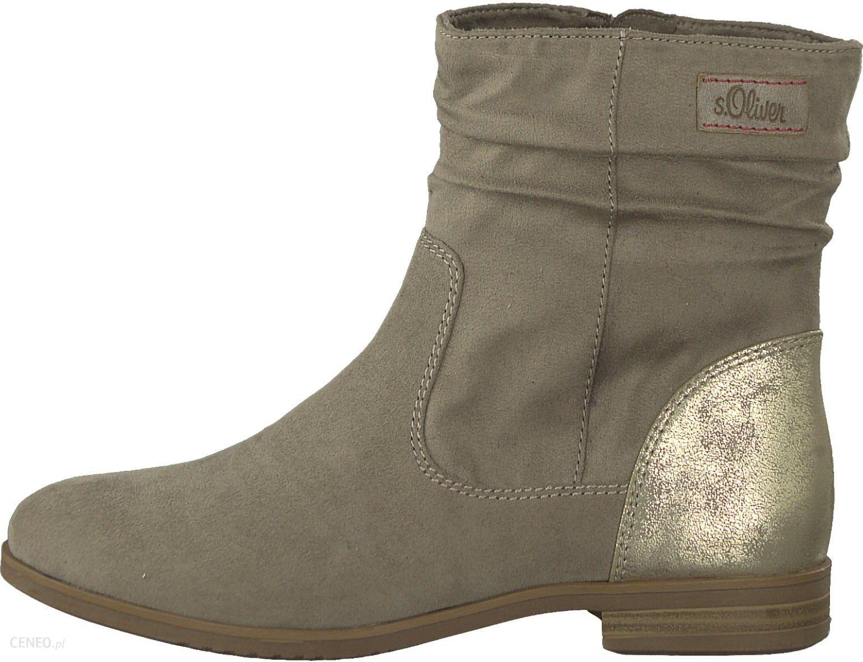 9eadf7a4de44 S.Oliver buty za kostkę damskie 37 beżowe - Ceny i opinie - Ceneo.pl