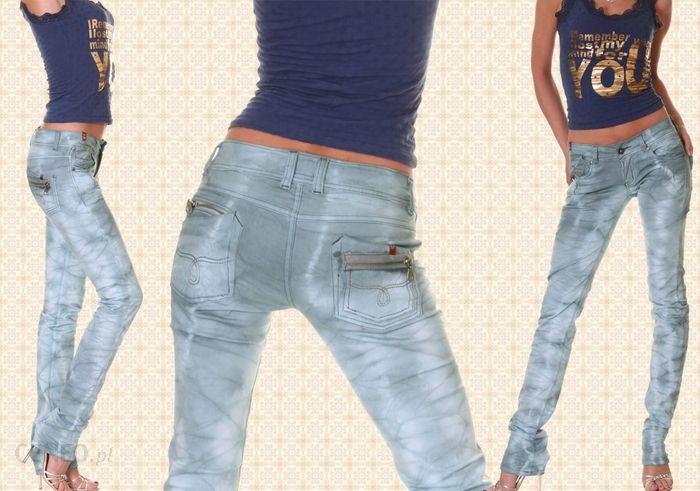 BT Jeans SEKSOWNE biodrówki SPODNIE DAMSKIE CIENIOWANE
