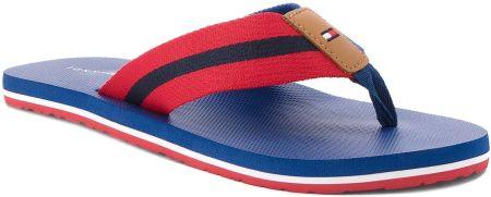 dccea054b34d0 Japonki TOMMY HILFIGER - Beach Sandal With Stripes FM0FM01597 Monaco Blue  408 eobuwie