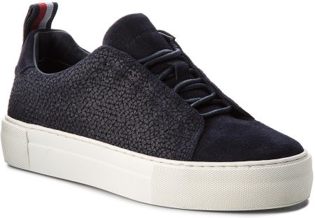 Sneakersy TOMMY HILFIGER - Fashion Suede Lace Up Cupsole FM0FM01816  Midnight 403 eobuwie 2ca771e154b
