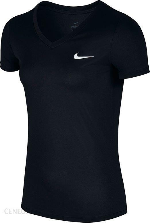 e5b633a995 Nike Koszulka damska Dry T-Shirt V-Neck czarna r. S - Ceny i opinie ...