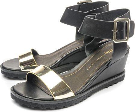 Sandały BETSY 987036 06-02 czarno-złote 41 Czarny złoty 36b010b4db9