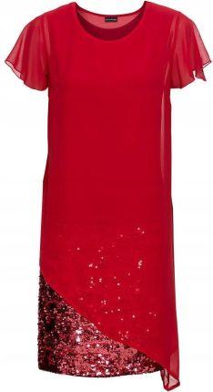 9269f514c3 Sukienka koktajlowa czerwony 44 46 XXL 3XL 908005 - Ceny i opinie - Ceneo.pl