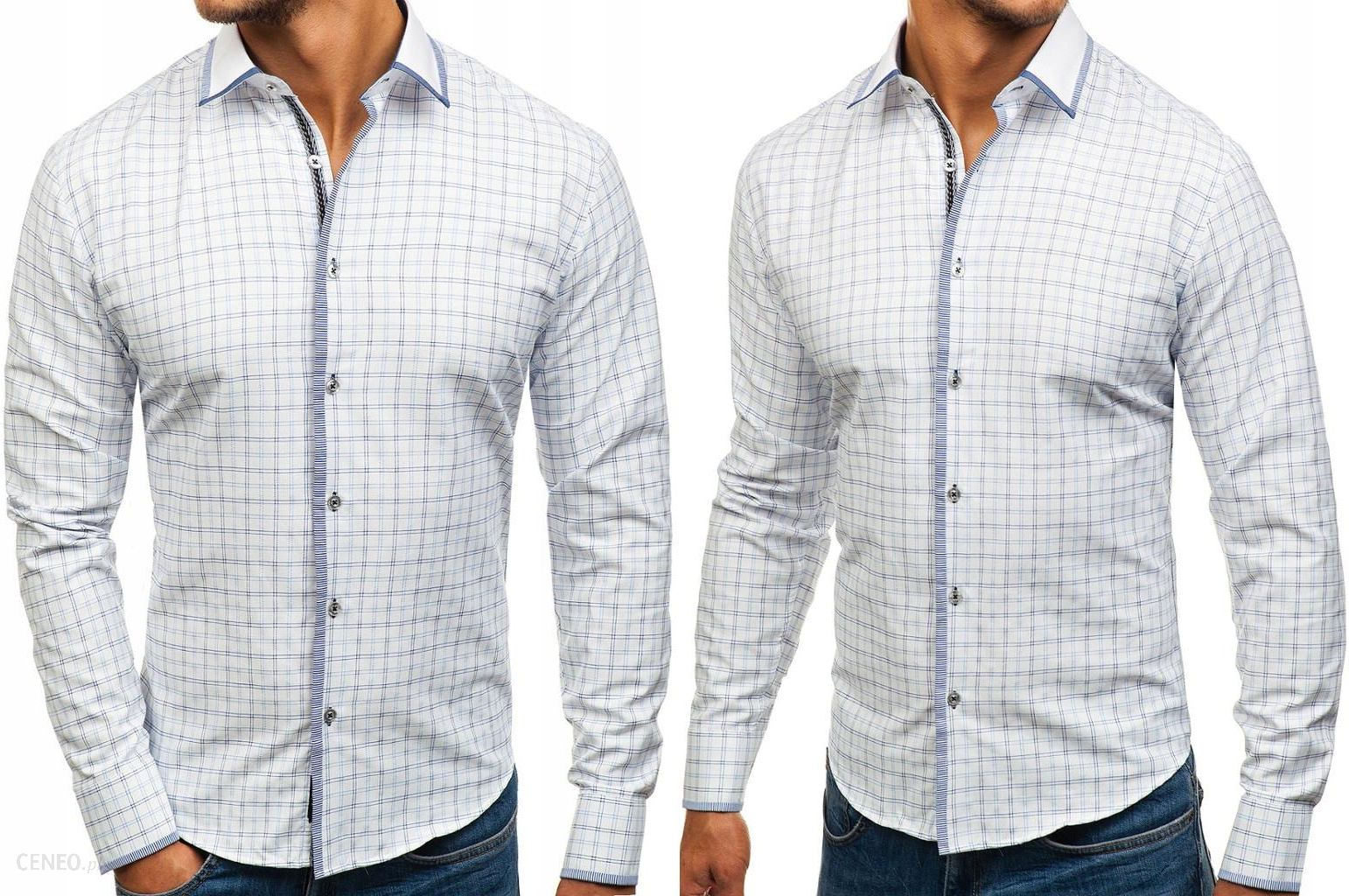 Koszula Męska Biało niebieska 8812 ROZMIAR_2XL Ceny i  gj4Yu
