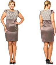 45b5bd2860 Sukienka z subtelną koronką duże rozmiary 48 4XL - Ceny i opinie ...