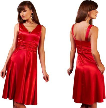 53d33b0ab6 Elegancka sukienka wieczorowa rozkloszowana 42 XL Allegro