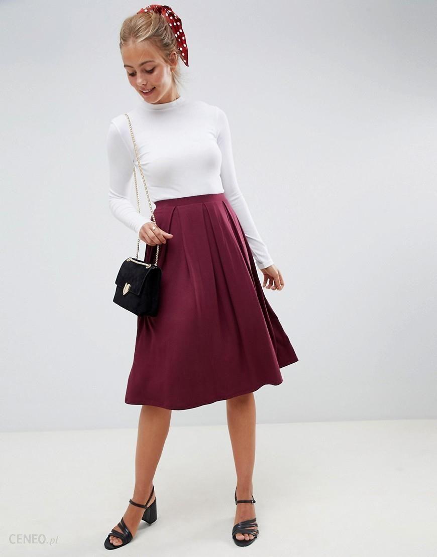 374209913c1d Asos Design Petite Midi Skirt With Box Pleats - Aztec Stone and ...