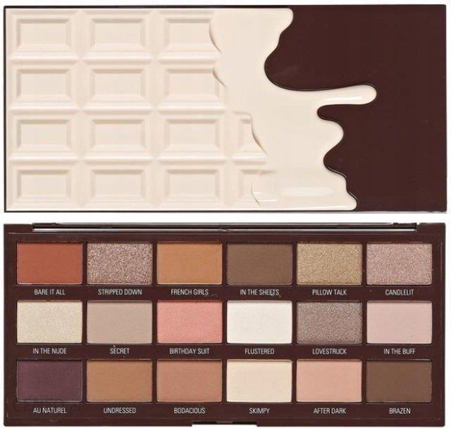 Makeup Revolution Paleta cieni NUDES CHOCOLATE