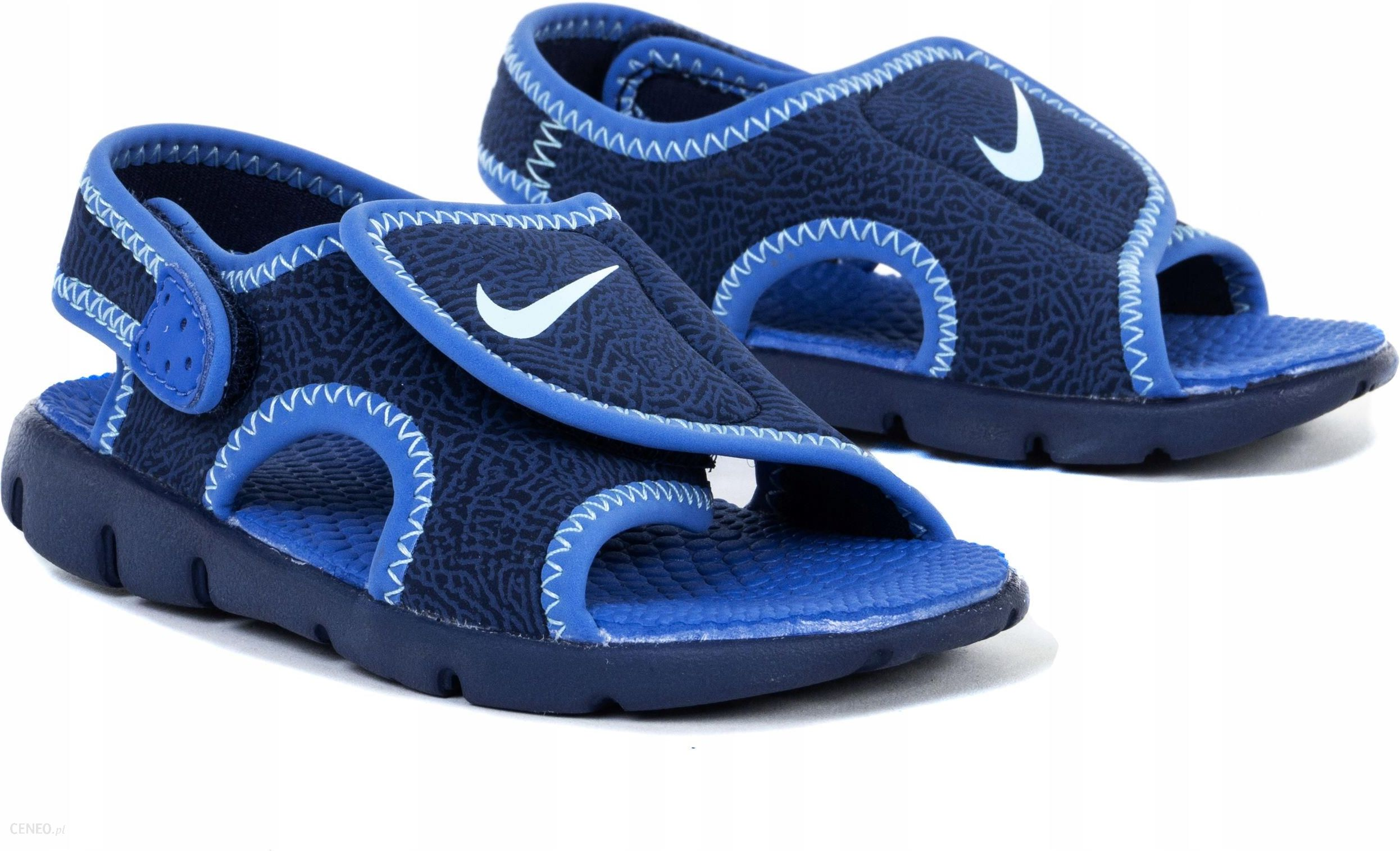Sandałki Nike Sunray 386519 413 Granatowe R. 21 Ceny i opinie Ceneo.pl