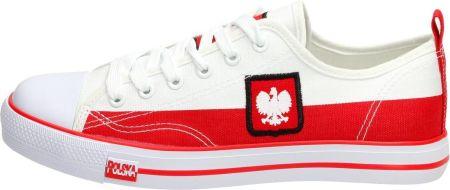 dcebd89860523 ... Converse Chuck Taylor All Star 159639C - BIAŁY. Biało czerwone trampki  KIBICA MUNDIAL LH18-24