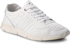 1b588d7b98f9 Sneakersy TOMMY HILFIGER - Unlined Th Light Leather Runner FM0FM01630 White  100 eobuwie