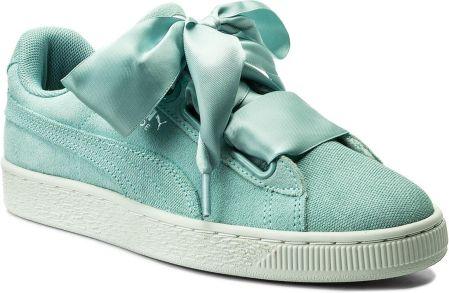 930ccd452047 Sneakersy PUMA - Suede Heart Pebble Wn s 365210 03 Aquifer Blue Flower  eobuwie