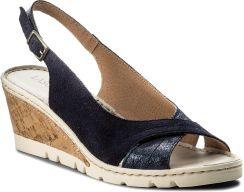 LASOCKI M865 Niebieskie sandały damskie Lasocki, ze skóry