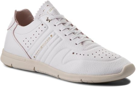 b238e901f17e74 Sneakersy TOMMY HILFIGER - Leather Light Weight Sneaker FW0FW03017 White  100 eobuwie