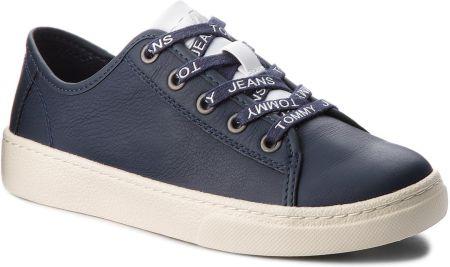 90cdcdb8 Sneakersy TOMMY JEANS - Light Leather Low EN0EN00230 Black Iris 431 eobuwie