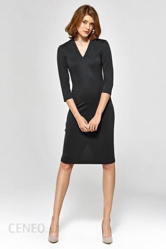 a64707e6e4 Sukienka z dekoltem w literę V - czarny - CS17 - Ceny i opinie ...