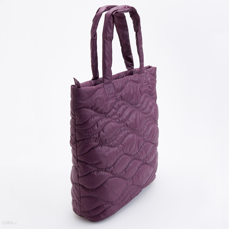 Reserved Pikowana torba typu shopper Bordowy Ceny i opinie Ceneo.pl