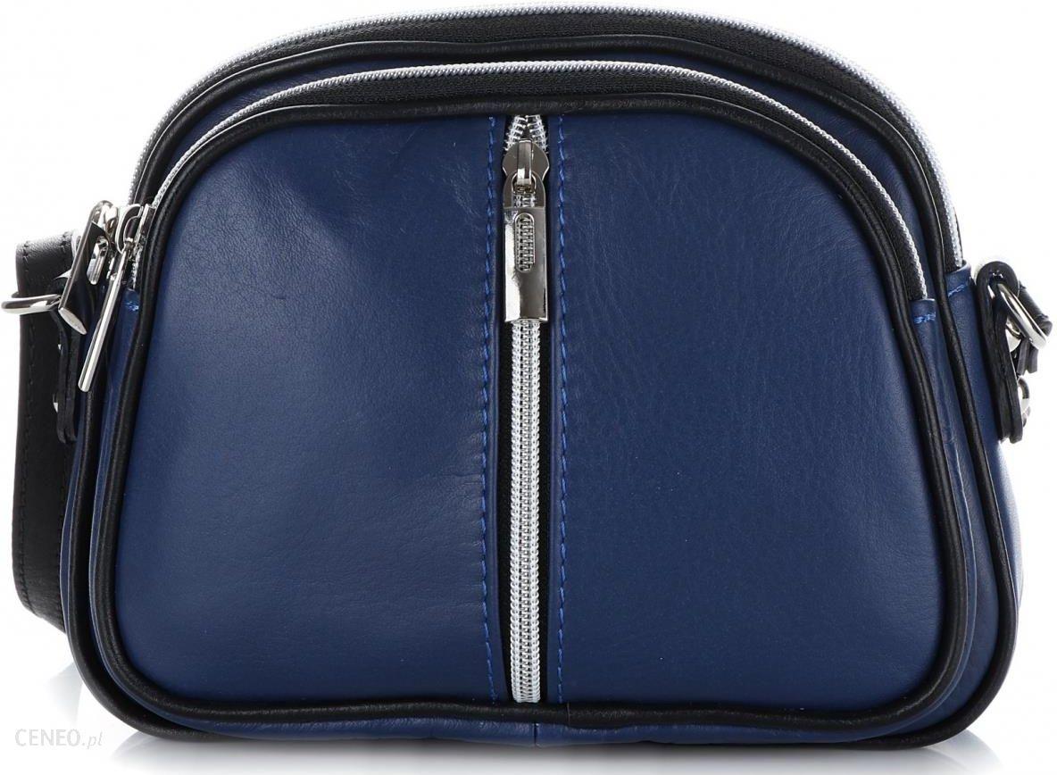 b3254b6d1e35b Małe Listonoszki skórzane Genuine Leather 3 przegrody Niebieskie (kolory) -  zdjęcie 1