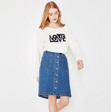 Jeansowa spódnica Jeans Spódnice Kobiety Promod