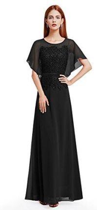 59524ab368 Amazon Ever Pretty damska elegancka Lang szyfon z krótkim rękawem gebl  kwiaty Lace suknia wieczorowa 08775