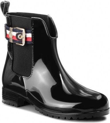b75074268f56e Kalosze TOMMY HILFIGER - Corporate Belt Rain FW0FW03329 Black 990 eobuwie