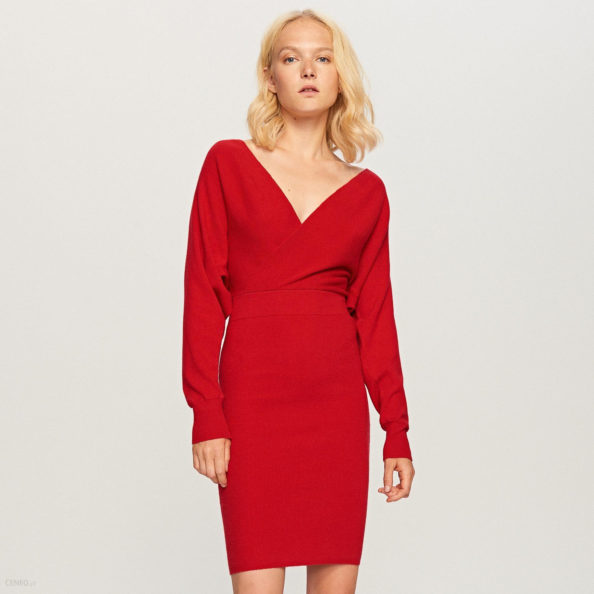 455cb89a78 Reserved - Dzianinowa sukienka - Czerwony - Ceny i opinie - Ceneo.pl