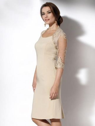 e57fd57cee EyeForFashion Wizytowa sukienka z koronkową górą Potis   Verso OPIUM